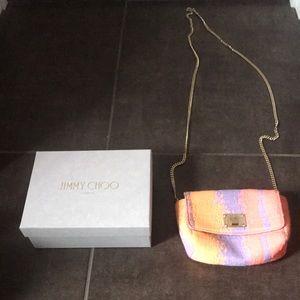 Jimmy Choo Crossover Handbag Purse Clutch Spice